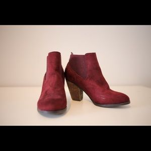 Call It Spring Burgundy Ankle Booties Size US 8